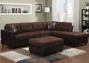 Mallory Chocolate Sectional