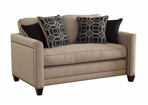 Beige Loveseat,Coaster Furniture
