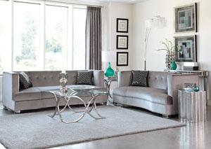 Atlantic Bedding And Furniture Washington Dc Chrome Sofa And Loveseat