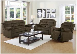 Brown Reclining Sofa & Loveseat