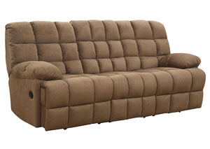 Mocha Reclining Sofa,Coaster Furniture