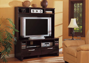TV Console w/ Hutch,Coaster Furniture