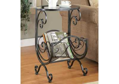 Gun Metal Accent Table
