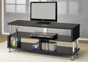 Black & Chrome TV Stand