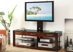 Black & Warm Brown TV Console