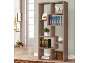 Distressed Brown Bookshelf