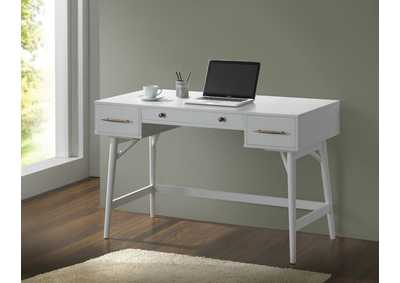 White Writing Desk,ABF Coaster Furniture