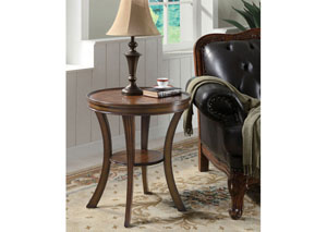 Janice Brown Cherry Accent Table