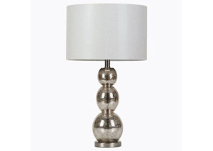 White & Golden Light Gold Table Lamp w/ Shade
