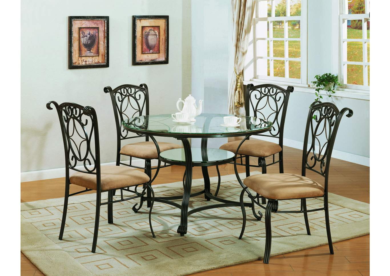 room jessica round dining room table w 4 side chairs