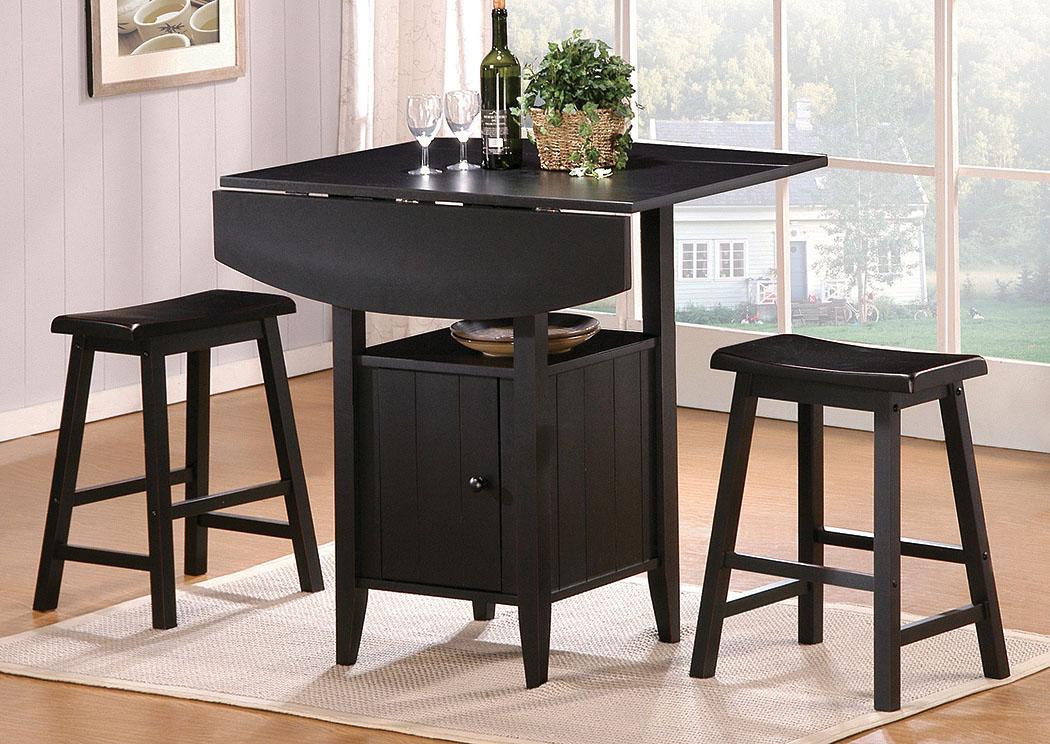 Counter Height Leaf Table : ... - Lafayette, LA Kirin Counter Height Drop Leaf Table w/2 Stools