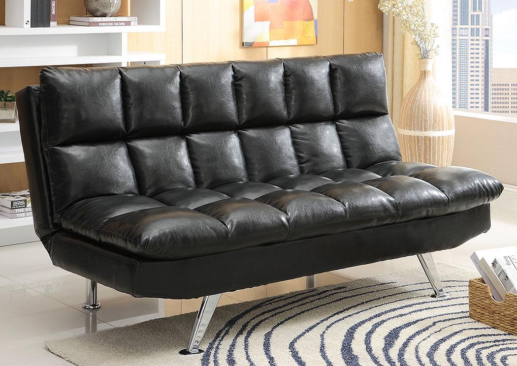 National Furniture Outlet Westwego La Sundown Black Adjustable Sofa