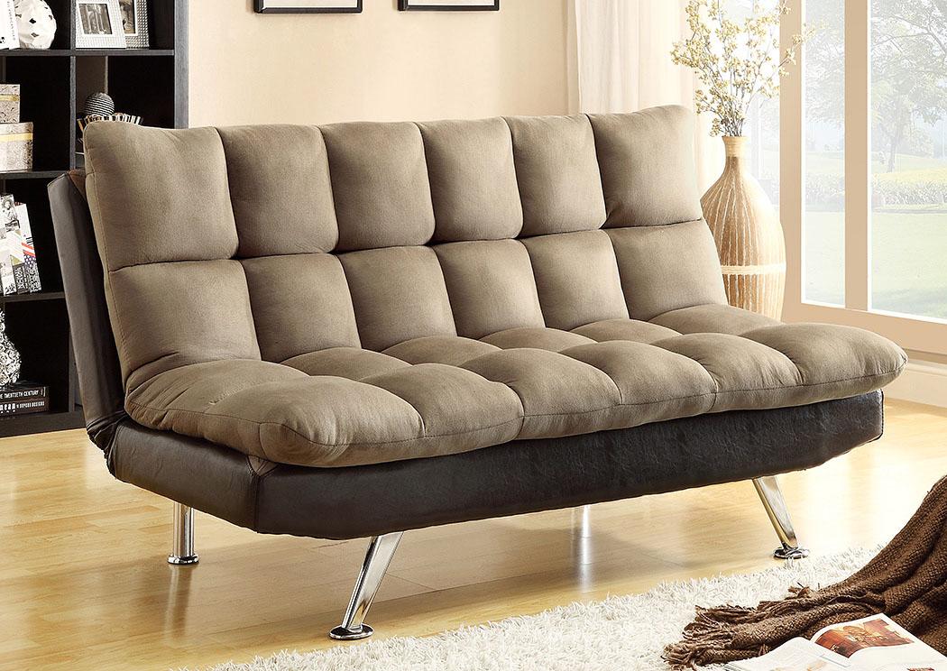 Ware House Furniture Sundown Espresso Pebble Adjustable Sofa