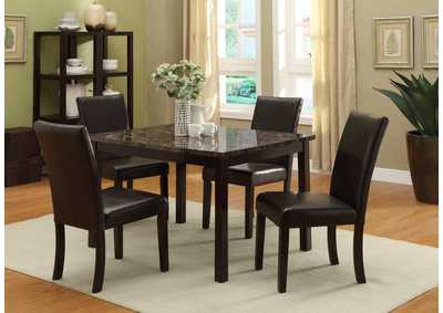 Pompeii Dining Table w/4 Side Chairs