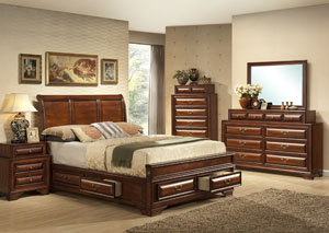 Queen Cherry Bed,Fash-N-Home