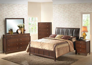 Merlot Queen Bed,Fash-N-Home