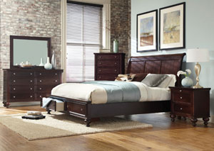 Merlot Queen Storage Bed