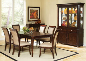 Cherry Dining Table w/ 6 Side Chairs,Fash-N-Home