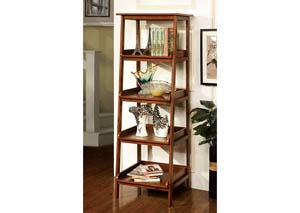 Jaegen Oak 4-Tier Display Shelf,Furniture of America