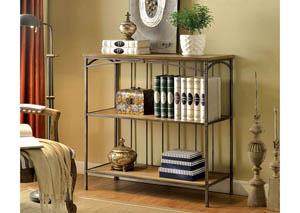 Wylde lll Curved Metal 3-Tier Book Shelf,Furniture of America