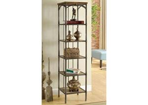 Wylde VI Curved Metal 6-Tier Book Shelf,Furniture of America