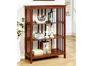 Loopen Oak 3-Tier Book Shelf,Furniture of America