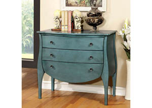 Havre Blue 3 Drawer Chest,Furniture of America
