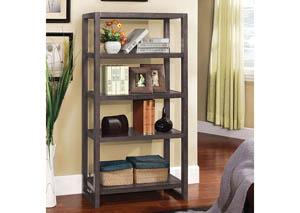 Fernie Grey 5-Tier Bookcase,Furniture of America