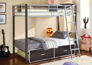 Cletis Twin Metal Bunk Bed,Furniture of America
