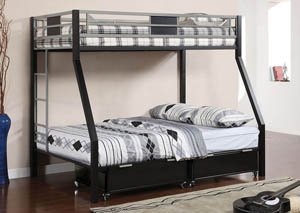 Clifton Twin/Full Metal Bunk Bed,Furniture of America