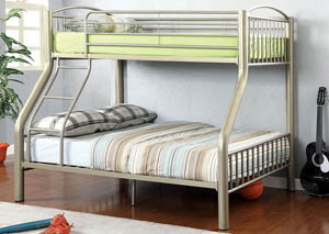 Lovia Twin/Full Metal Bunk Bed,Furniture of America