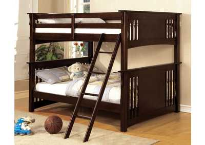 Spring Creek Dark Walnut Full Bunk Bed,Furniture of America