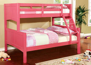 Prismo ll Pink Full Bunk Bed,Furniture of America