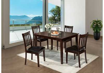 West Creek I Espresso 5 Pc Dining Table Set,Furniture of America
