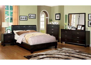 Villa Park Espresso Queen Platform Bed,Furniture of America