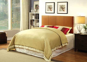 Winn Park ll Camel Leatherette Queen Headboard,Furniture of America