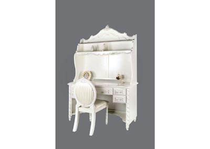 Alexandra Pearl White Desk w/Hutch,Furniture of America