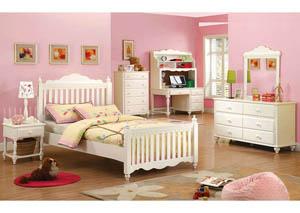 Adriana White Desk,Furniture of America