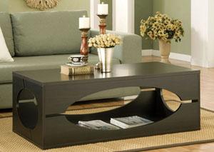 Coffee Bean Classic 47-inch Wood Coffee Table