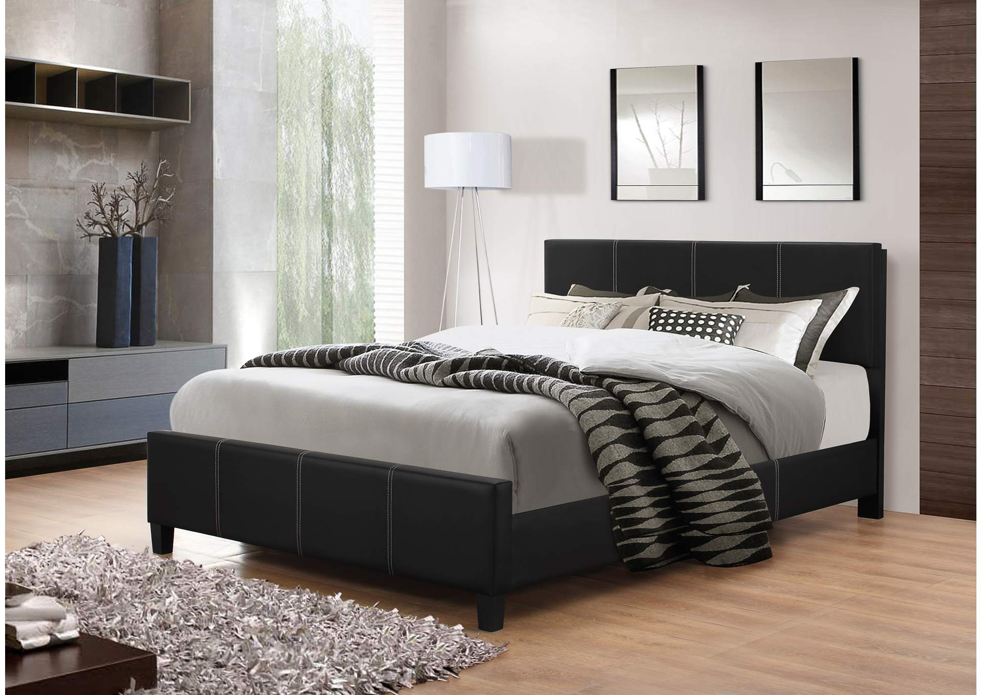 The Roomstyle Furniture Black Twin Bed