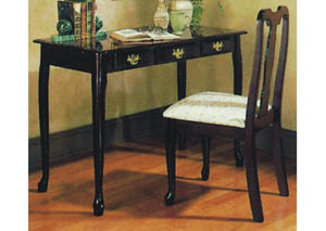 Cherry Queen Anne Writing Desk & Chair