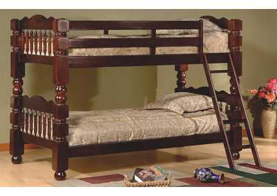 Cherry Finish Twin/Twin Bunk Bed