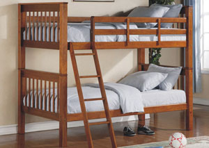 Twin/Twin Wood Bunk Bed