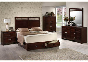 4Pc Wooden Storage Queen Bedroom Set With Chest