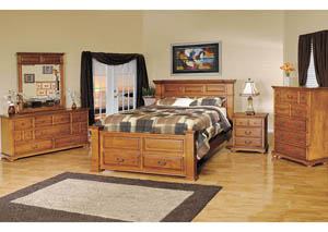 Prescott Queen Bed, Dresser, Mirror & Chest