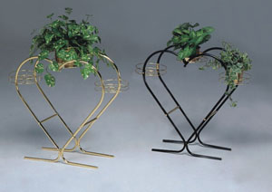 Black Heart-Shaped Plant Stand