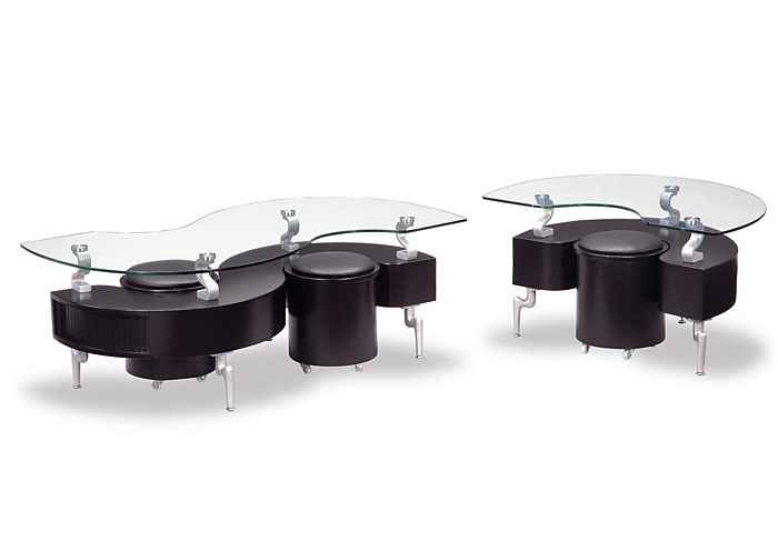Cost Of Glass Stool For Sitting Room Nairaland : Black & Glass Coffee Table w/ 2 Stools : 0.00