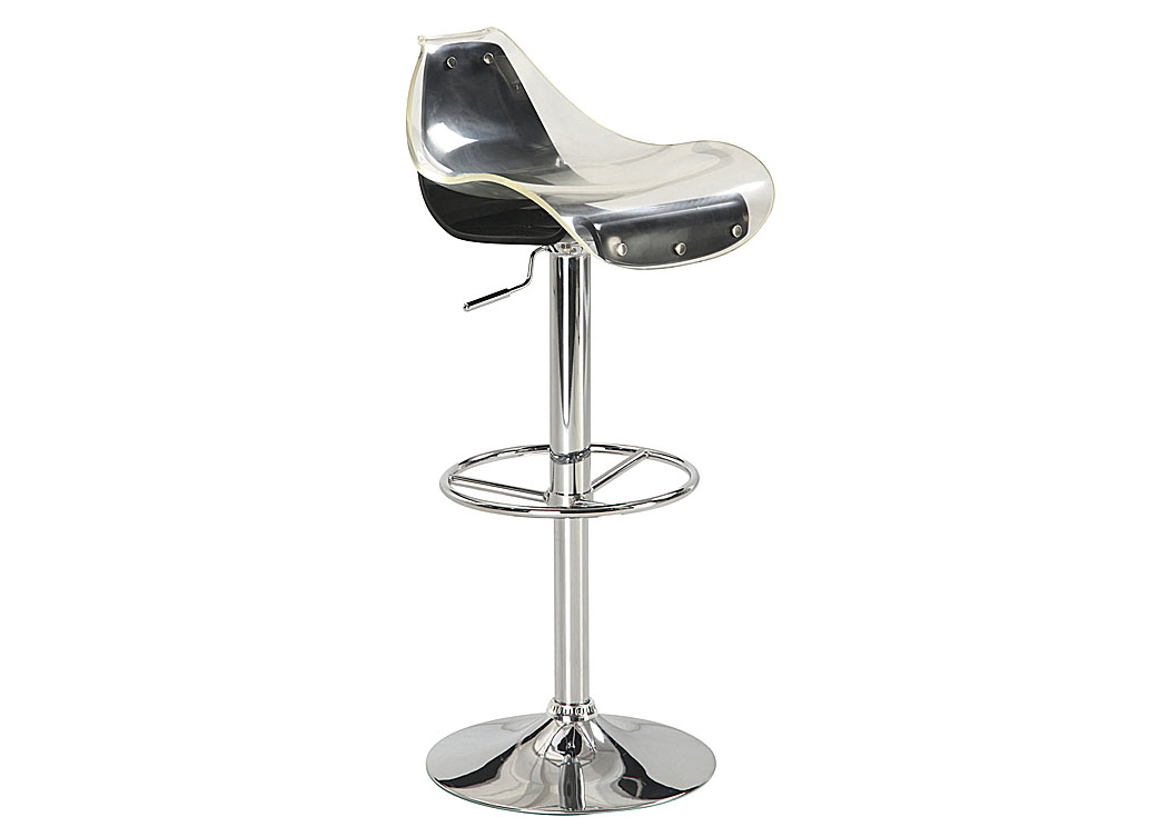 Furniture Marketplace - Greenville, SC Clear u0026 Black Bar Stool