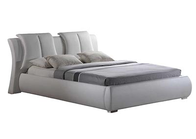 White Queen Bed,Global Furniture USA