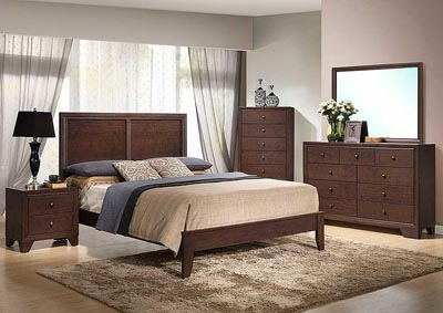 Alisa Queen Bed, Dresser, Mirror, Chest & Nightstand